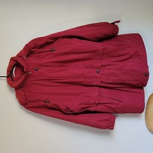 Marks & Spencer Dark Red Quilted Jacket with removable hood
